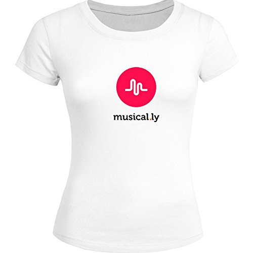 Musical.ly Logo New Style For 2016 Womens Printed Short Sleeve tops t...
