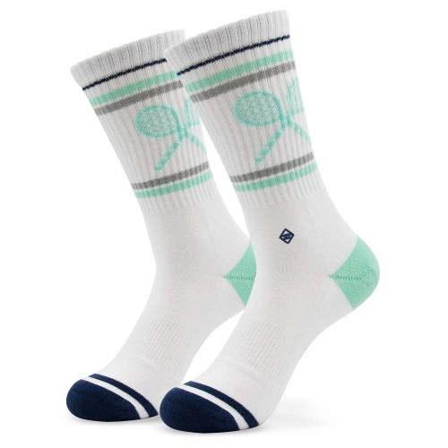 Match Day Tennissocken   J.Clay JClay socken lustig halbhohe Sportsocken hoch Socken Herren Gr Gr. 43 44 45 46 Männer Frauen Tennis Socken, Sportsocken Sneaker Laufsocken Größe 43-46