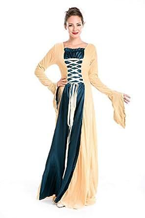 Robe Médiévale Renaissance Reine robe de soirée Costume
