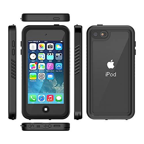Banath für iPod Touch 7 Wasserdicht Hülle,IP68 Zertifiziert Handy Hülle mit Eingebautem Displayschutz, Stoßfest Staubdicht und Unterwasser Outdoor Schutzhülle (Schwarz) - Ipod Touch Handy