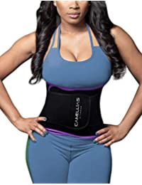 1633f5bbee DeepTwist Waist Trainer Belt - Adjustable Waist Trimmer Belly Fat Burner Slimming  Body Shaper for Women