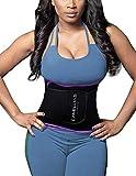 DeepTwist Sport Korsett Belt, Waist Trainer Taillengürtel Unterbrust Corsage Verstellbar Taillenmieder Gürtel für Damen/Männer,UK-DT8010-Purple-M
