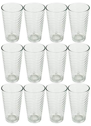 Set of 12Drinkware Drink Glas trinken Gläser-Set, 16Unze Kühler Glas Tassen Limited Edition Glaswaren Drinkware Tassen, glas, Wellen, 16 Ounce