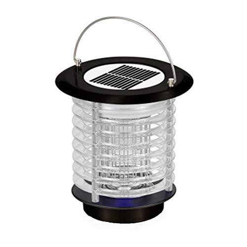 Solar Licht Moskito, Elektrische Mücken Killer Lampe Moskitoschutz Insektenvernichter Mückenfalle Mückenschutz Lampen Fliegenfalle Zapper Insektenschutz anti Mückenlicht (schwarz)