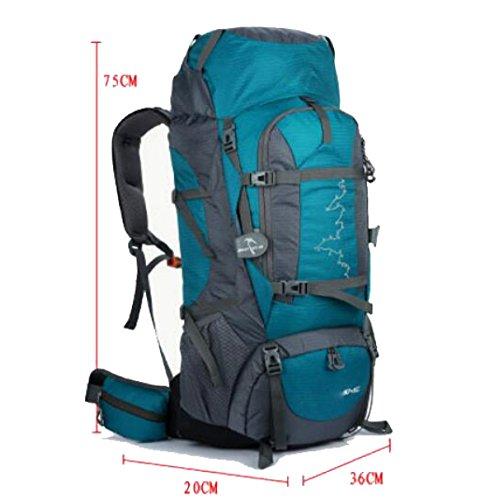 Outdoor Bergsteigen Tasche 80 + 5 Liter Männer Und Frauen Sport Große Kapazität Wasserdichte Camping Rucksack,Black Orange