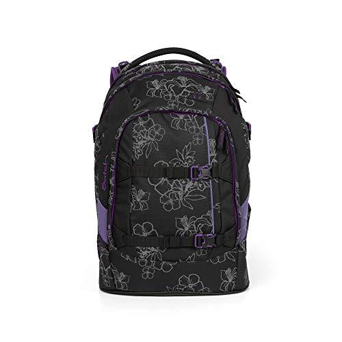satch Pack ergonomischer Schulrucksack für Mädchen und Jungen - Ninja Hibiscus