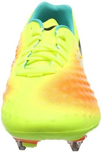 Nike Magista Onda II SG, Chaussures de Football Homme Amarillo (Volt / Black-Total Orange-Clear Jade)
