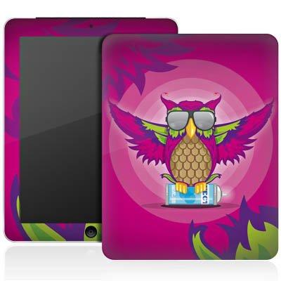 Apple iPad 1 Aufkleber Schutz Folie Design Sticker Skin Eule Pink Sonnenbrille