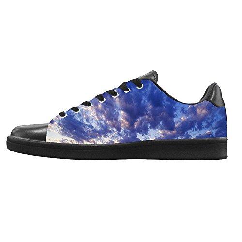 Dalliy Blaue Wolken Men's Canvas shoes Schuhe Lace-up High-top Sneakers Segeltuchschuhe Leinwand-Schuh-Turnschuhe C