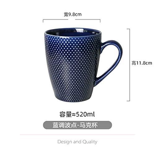 Blues Keramik Becher Studentenwohnheim eine Person Anzug Trinkbecher Mode einfache Milch Tasse Kaffeetasse