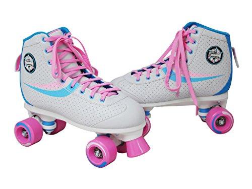 Nijdam Kinder Rollschuhe Disco weiß Rosa 34 35 36 37 38 39 40 41 in Top Design (34)