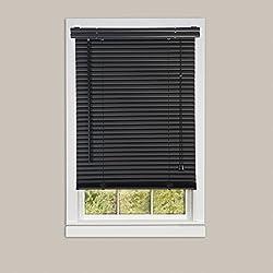 Achim Home Furnishings Morning Star 1-Inch Mini Blinds, 27 by 72-Inch, Black