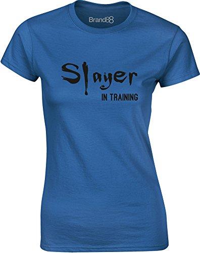 Brand88 - Slayer in Training, Gedruckt Frauen T-Shirt Königsblau/Schwarz