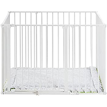 Bright And Translucent In Appearance white Babydan Baby Playpen And Playmat
