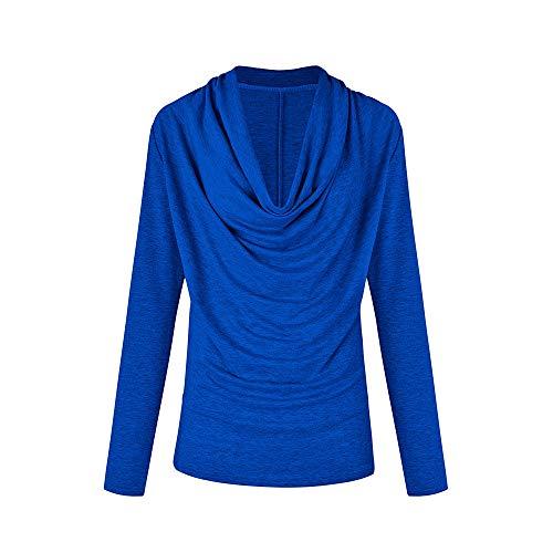 MEIbax Damen Langarm Cowl Neck Herbst Winter T-Shirt Outwear Tops Rollkragenpullover Oberteile...