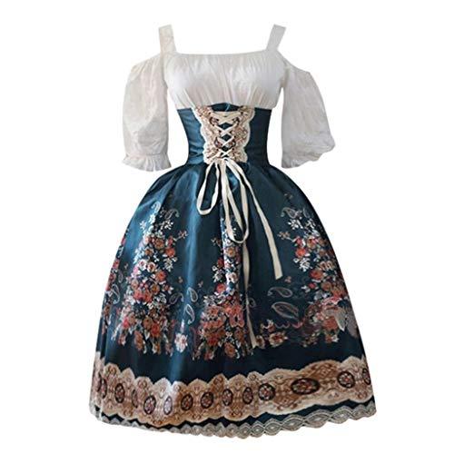 Allence Damen Viktorianisches Rokoko-Kleid, Inspiration Maiden (Kostüm Inspiration)