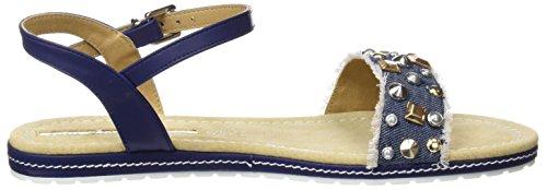 Maria Mare Damen Dalia Sandalen mit Knöchelriemen Blau