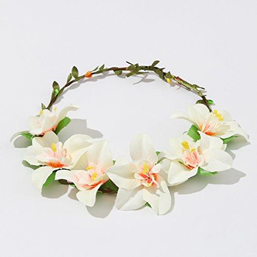 Versione Coreana Del Vintage guarnito di fiori viti Rosa corona dei fiori dei capelli della fascia nuziale capo dei capelli del cerchio dei capelli Ornamenti del cerchio della forcella (nove modelli) ( stile : C )
