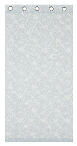 100% cotone anatra uovo blu bianco uccello floreale anello top tende 66x 72- 168x 183cm