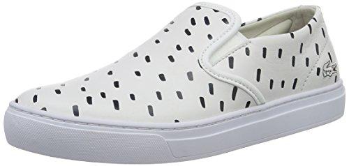 Lacoste L!ve, Rene Alliot Slip, Sneakers da Donna, Bianco (wht/nvy), 36