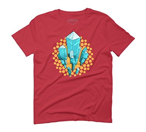 Crystals Have Power (blue/orange) Men's Graphic T-Shirt - Design By Humans Red