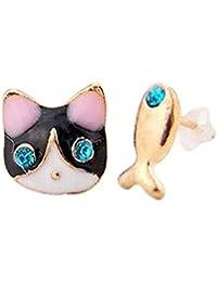 Cupcinu 1 par de Pendientes de Oreja de Pendientes de Gato y pez Pendientes Pendientes Accesorios