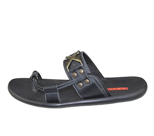 Herren Slip auf Hausschuhe Strand Walking Sommer Casual Fashion Flip Flop Sandale Größe Schwarz