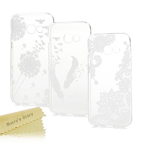 Samsung Galaxy A3 2017 Hülle Case Mavis's Diary 3x Tasche Schutzhülle TPU Softcae Fall Euit Back Cover Bumper Handytasche Scratch Telefon-Kasten Handyhülle Handycover (Mavis Diary Samsung)