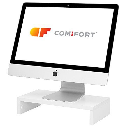 COMIFORT Soporte para Monitor Ordenador TV Portátil Elevador De Pantalla (Blanco)