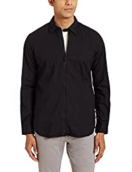 Parx Mens Casual Shirt (8907254446368_XMSA05295-K8_39_Black)