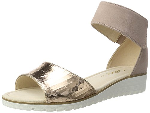 Gabor Shoes Damen Fashion Knöchelriemchen, Gelb (Rame/Antikrosa 64), 44 EU