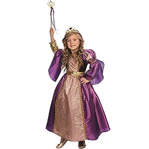 Dress Up America - Disfraz de princesa real  para niños, multicolor, talla XS, 3 - 4 años (846-T4)