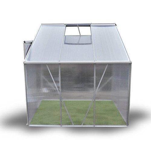 Festnight serra giardino-orto serra da parete in alluminio a 3 sezioni