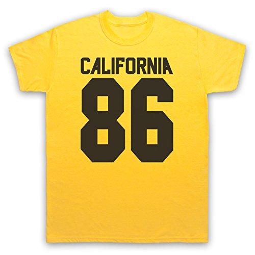 Inspiriert durch California 86 As Worn By Damon Albarn Unofficial Herren T-Shirt Gelb