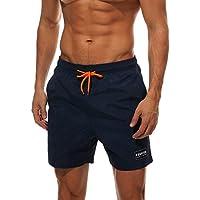 Belloo Herren Sommer Badeshorts Swimming Trunks Beach Shorts Badehosen mit Verstellbarem Tunnelzug & Taschen für Surfen