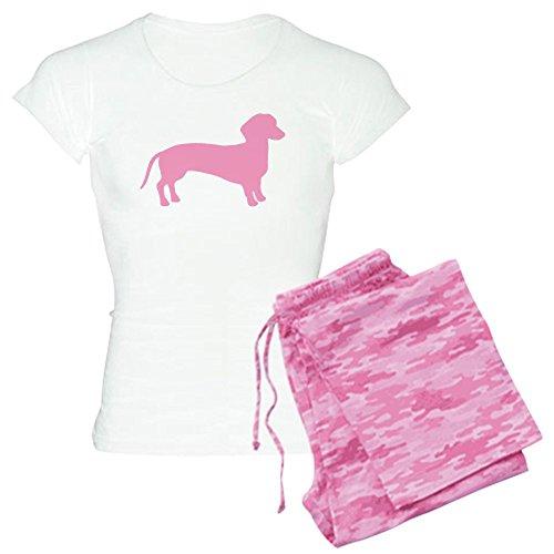 CafePress-Pink Dackel Hund-Damen Neuheit Baumwolle Pyjama Set, bequemen PJ Nachtwäsche Gr. Medium, with Pink Camo Pant -