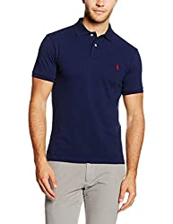 Ralph Lauren Herren SS KC Slim FIT Polo PPC Poloshirt, Grau (Grey Heather A413B), X-Large