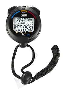 Leap PC2230Chronomètre numérique Grand format avec écran LCD Chronomètre Minuteur 2rangées 30mémoire électronique Bain Formation Chronographe Compteur