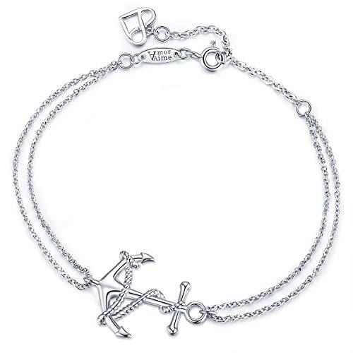 Infinity Armband Silber Unendlichkeitszeichen Herz-925 Sterling Silber  Infinity Unendlichkeit Symbol Charm Adjustable Mädchen Schmuck von AmorAime  (Anker ... 173baa6a8e