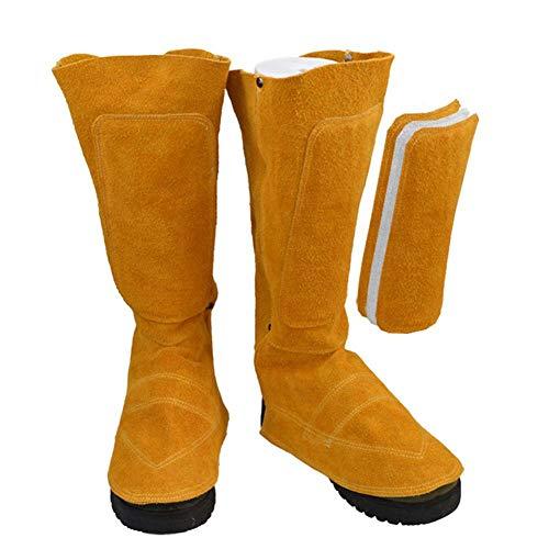 Chaussures de protection de protection des pieds, protection de pied ignifuge, sécurité du cuir de vachette Cuir Souches de soudure pour protecteurs de chaussures de soudeur