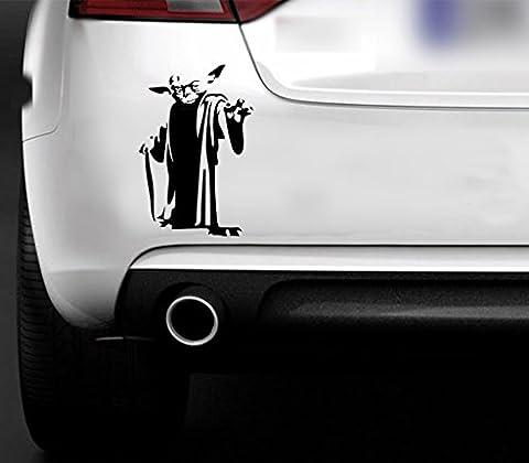 Sticker Yoda Star Wars Jedi en vinyle pour fenêtre, ordinateur portable, voiture, bateau