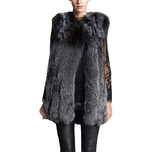 Canottiera di pelliccia donna pelliccia sintetica smanicato giacca festa style invernali vintage morbidi addensare caldo prodotto plus gilet di pelliccia giaccone outerwear ragazze