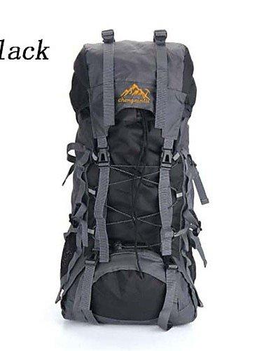 HWB/ 50L L Rucksack Camping & Wandern / Reisen Outdoor Wasserdicht / Wasserdichter VerschlußGrün / Rot / Schwarz / Blau / Dunkelblau / Orange Black