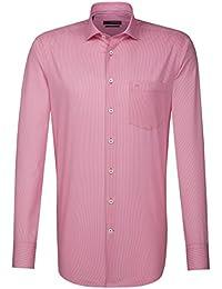 Seidensticker Herren Langarm Hemd Splendesto Regular Fit pink / weiß gepunktet 189620.42