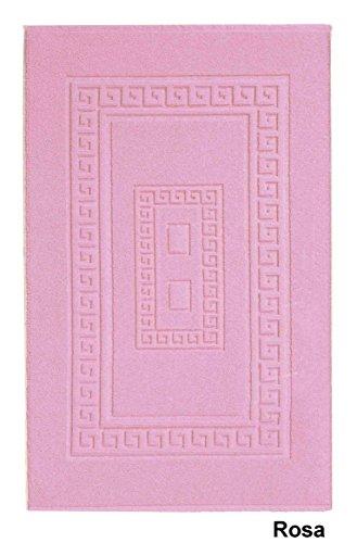 Casa tessile torino tappeto bagno in spugna cm 60x120 - rosa