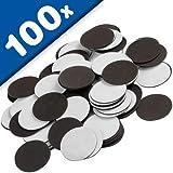 100 x Takkis Magnetplättchen selbstklebend rund - Ø 27mm x 1,2mm - Magnetpunkte genutzt um Fotos Poster Bilder Dokumente oder Deko-Elemente problemlos und schnell zu befestigen