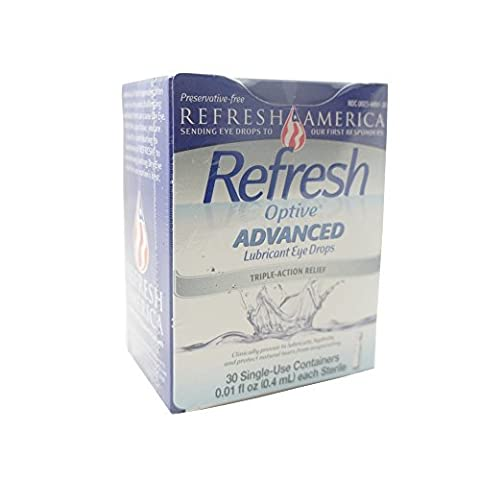 Refresh Optive Sensitive Lubricant Eye Drops Single Use Containers, 30 ea by Allergan Consumer (Single Use Container)