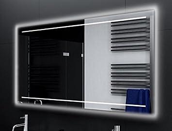 Badezimmerspiegel Beleuchtet badspiegel casoria glaswerk24 mit a led beleuchtung b 180 cm x