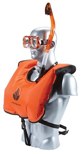 akona-hi-viz-junior-snorkel-vest-with-oral-inflator-orange-by-akona