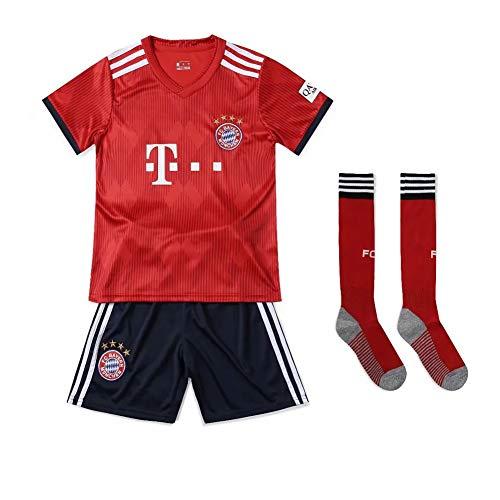 Fan-Shirts Neue Saison Bayern München Kinder-Fußball-Set Schweiß bleibt trocken Bequeme T-Shirt-Shorts Benutzerdefiniertes Shirt Personalisierter Name Nummer-22